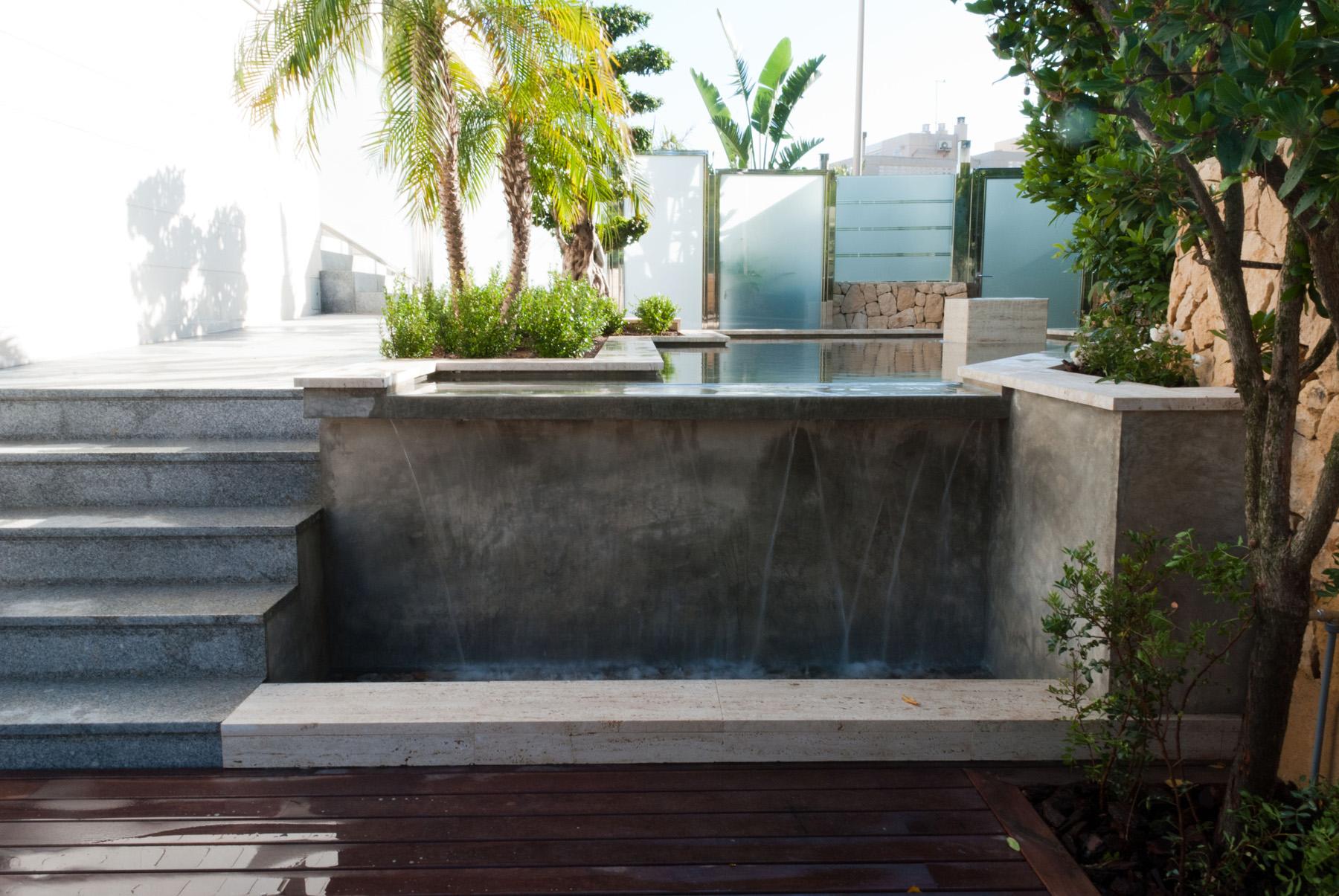 Diseno de jardin con fuente david jim nez arquitectura - Diseno jardines madrid ...