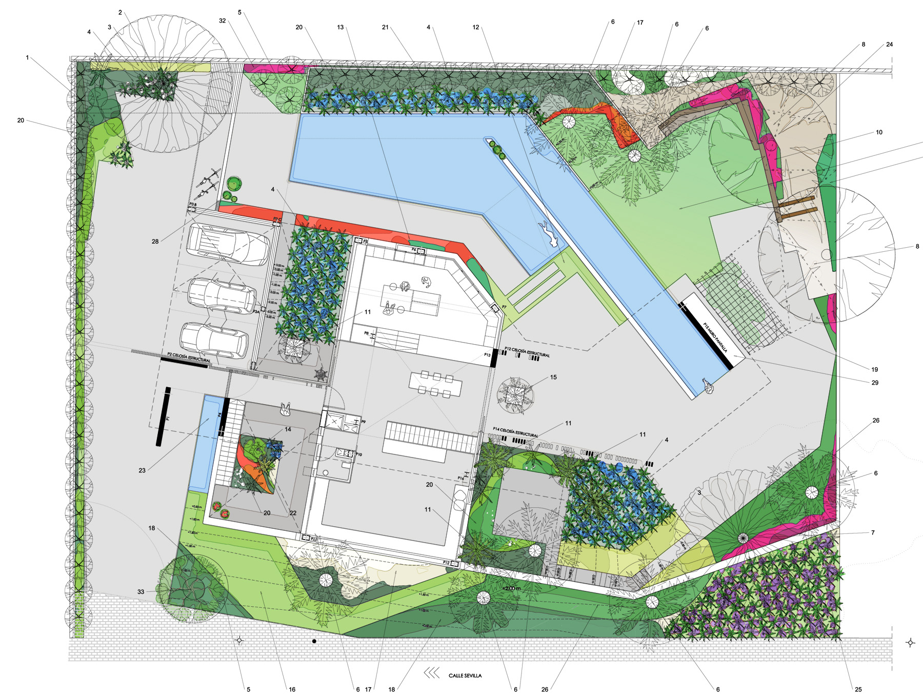 Dise o de terrazas david jim nez arquitectura y - Plantas para jardin japones ...