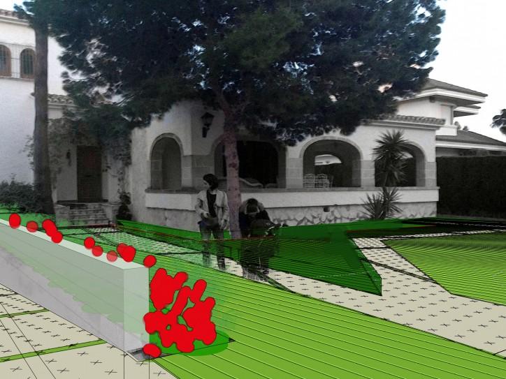 Render proyecto de jardineria y paisajismo