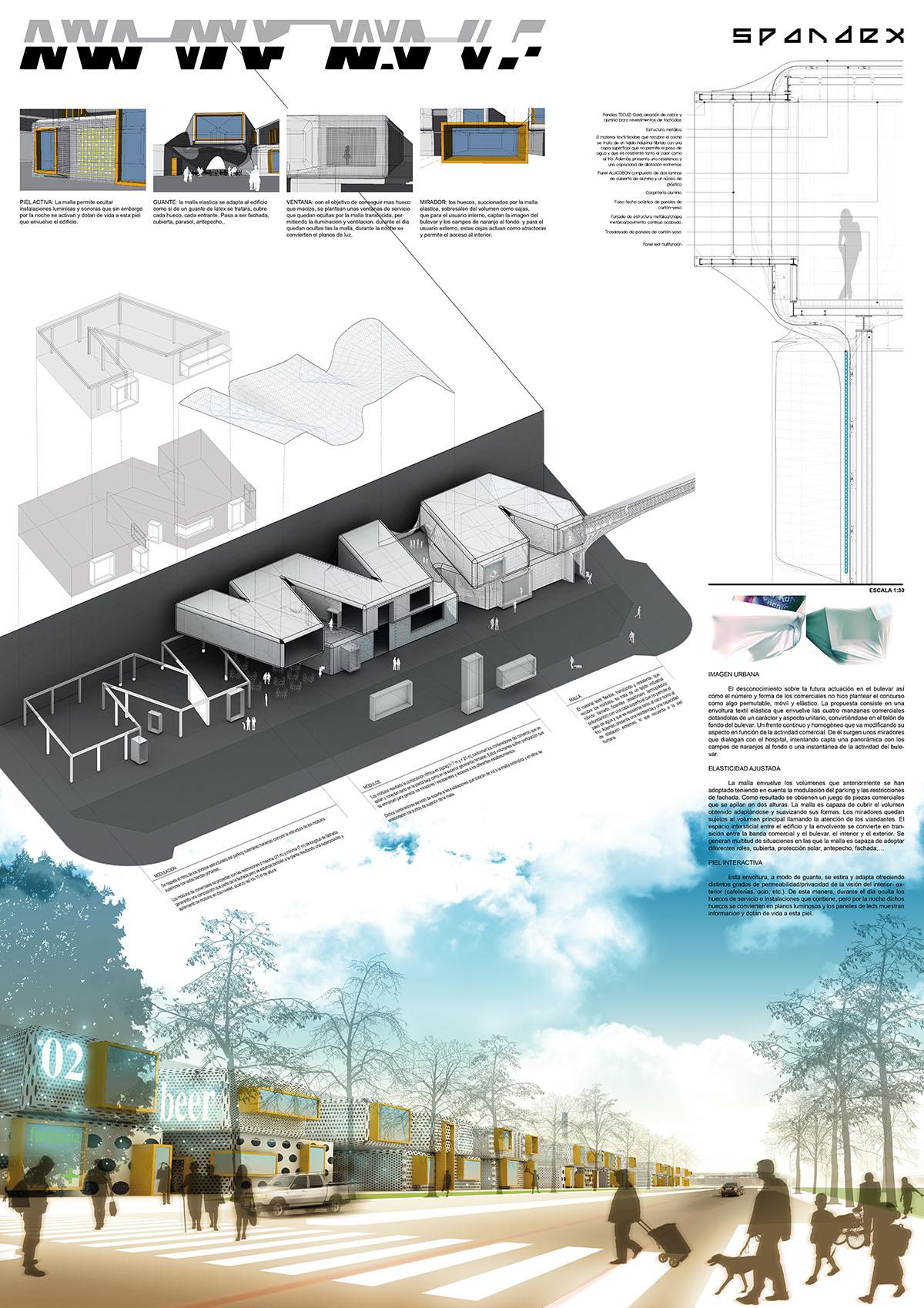 panel para concurso de arquitectura de gandia