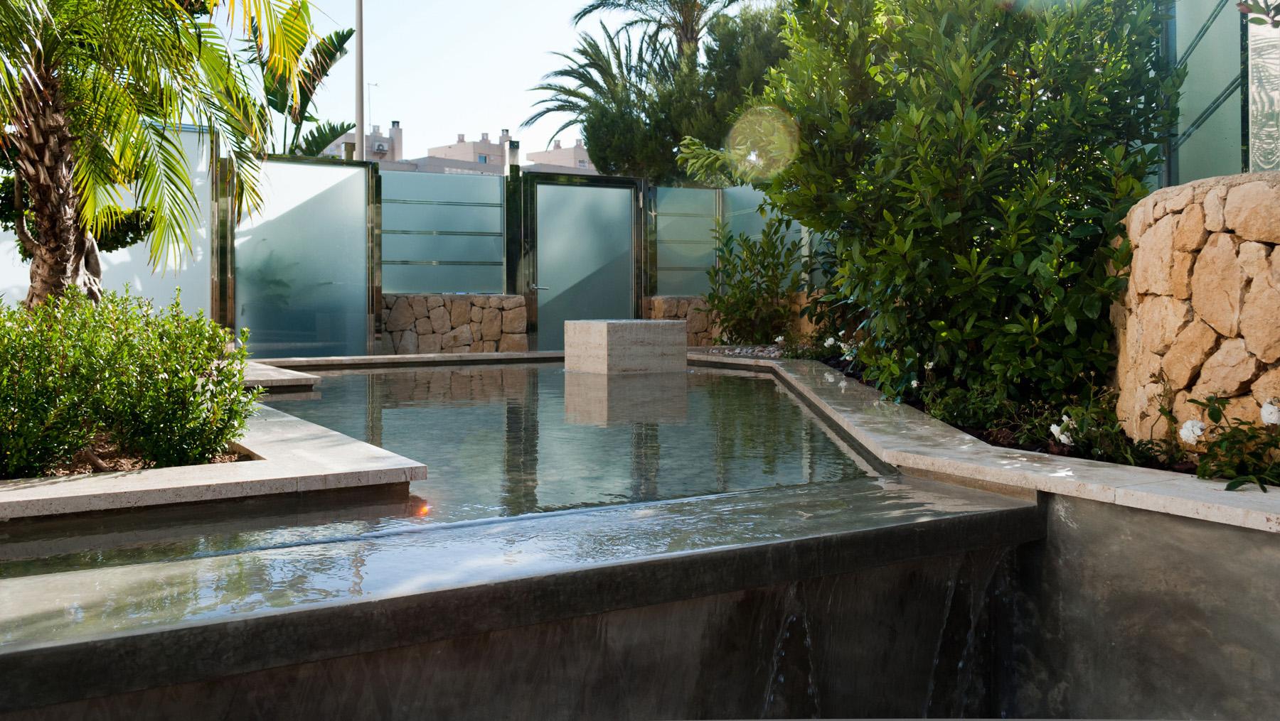 diseno de jardin zen con estanque david jim nez. Black Bedroom Furniture Sets. Home Design Ideas