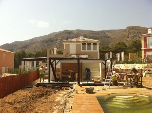 Construccion de jardin tropical