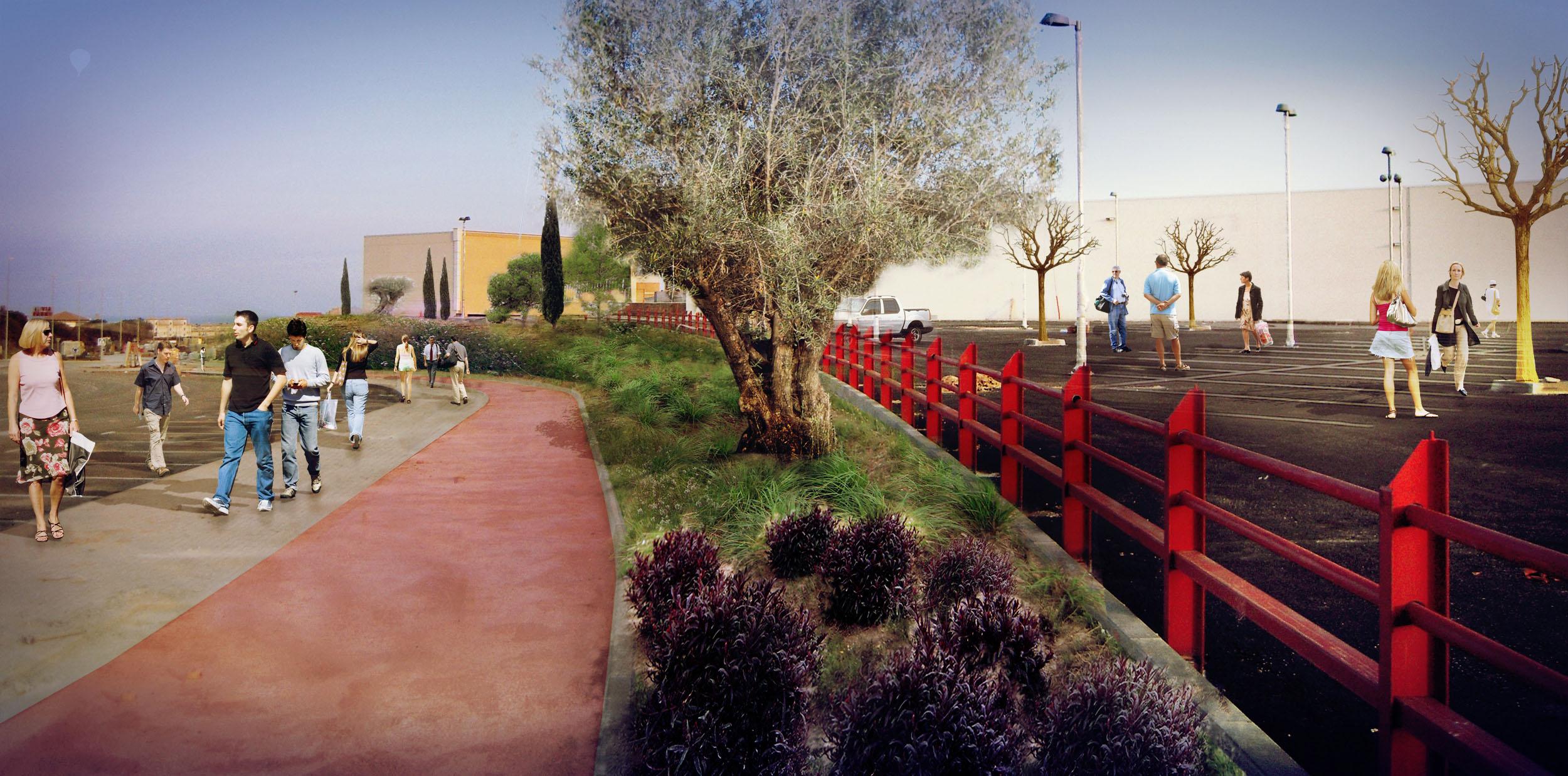 render de david jimenez arquitecto para proyecto de centro comercial